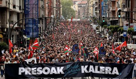 Manifestació a Bilbao en favor dels drets dels presos.