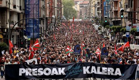 Bilbao va sortir dissabte per demanar l'acostament de presos.