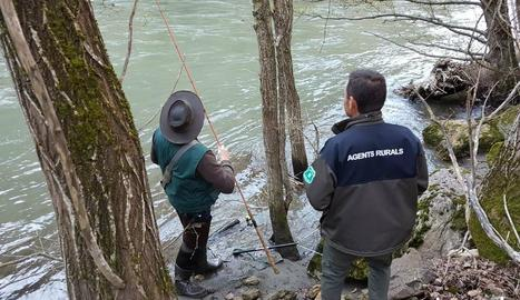 Imatge de la intervenció dels Agents Rurals.