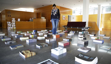 L'exposició de llibres del Col·legi d'Arquitectes estarà oberta fins divendres que ve.