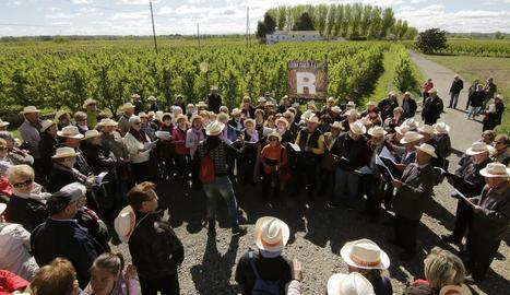 Cantaires participants l'any passat a la cita coral Lleida Canta, celebrada a l'Horta de Lleida.