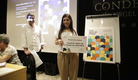 Teresa Galicia, guanyadora del concurs de cartells de l'Aplec del Caragol de Lleida 2018.