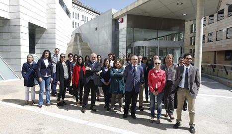 Fiscals i jutges lleidatans es van concentrar ahir als jutjats del Canyeret.