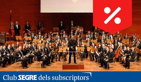 La Banda Simfònica Unió Musical de Lleida en concert.