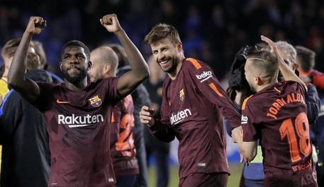 Els aficionats de la Penya Som un Sentiment van celebrar en gran el títol de Lliga.