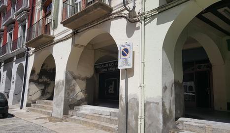 Porxos del centre històric de la Seu d'Urgell.