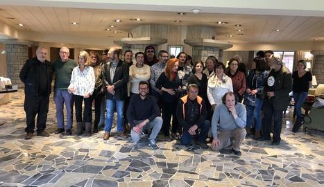 Organitzadors i participants, ahir al Parador de Vielha en la clausura del Black Mountain Bossòst.