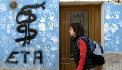 Imatge d'arxiu d'una pintada a favor de la banda terrorista ETA.