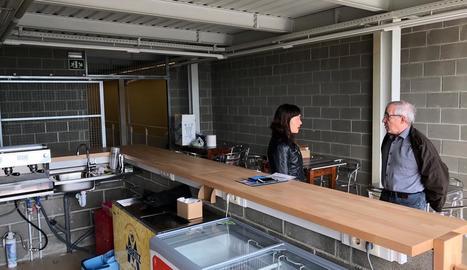 El nou bar, que gestionarà l'associació Amisol.