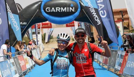 Ramona Gabriel i Josep Betalú, els dos guanyadors de l'edició 2018 de la Titan Desert.