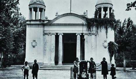els primers. Foto dels primers alumnes de l'escola dels Torms el 1918.