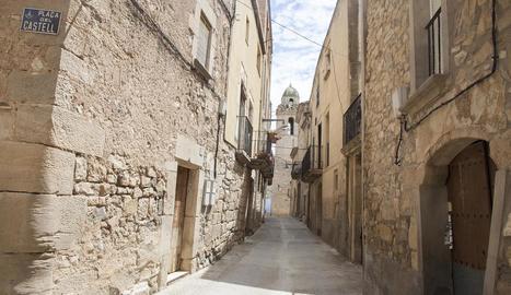 Habitatges al poble de Maldà, on l'ajuntament preveu aplicar un recàrrec de l'IBI als buits.