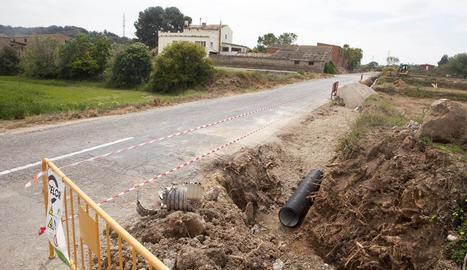 L'accés sud de Montgai, que millorarà en qualitat i seguretat.