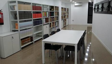 Les noves instal·lacions de l'arxiu municipal.