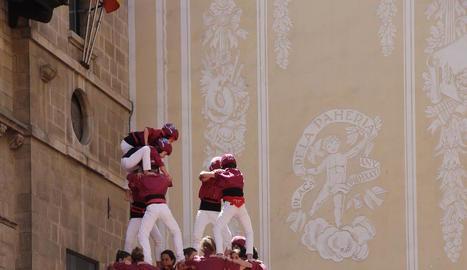 Primer 7 de 7 de la temporada dels Castellers de Lleida.
