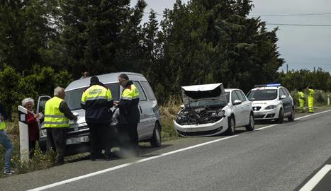 L'N-240 a Lleida va registrar ahir un altre accident, però sense ferits.