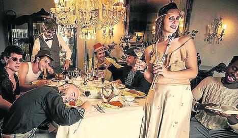 Imatge promocional de la banda lleidatana La Familia Torelli.