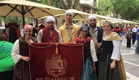 Es Fradins de Vielha van actuar el cap de setmana a Manresa.