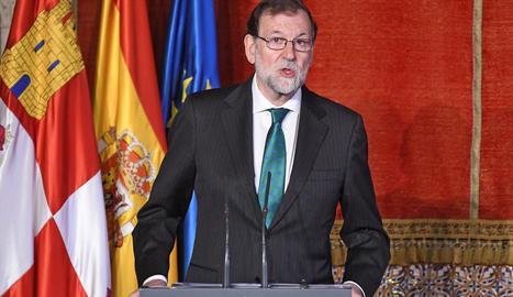 El president del Govern espanyol, Mariano Rajoy, ahir, a Segòvia.