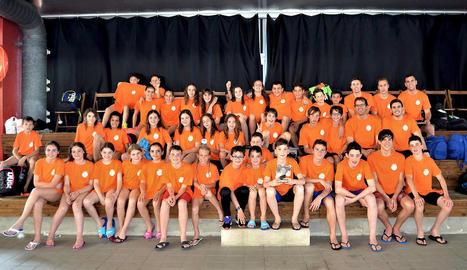 La selecció de Lleida de natació, segona a la final de delegacions