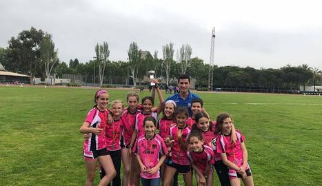 Equip femení sub-12 del Lleida UA.
