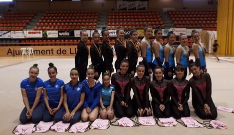 A la imatge, les representants del CN Lleida que van prendre part en el campionat.