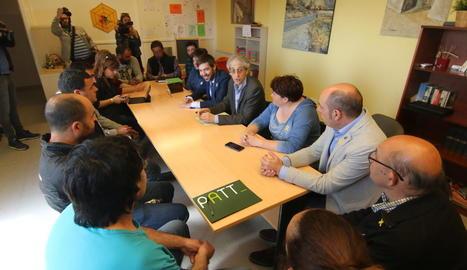 Un moment de la reunió feta ahir a Gerb entre el departament i els municipis afectats.