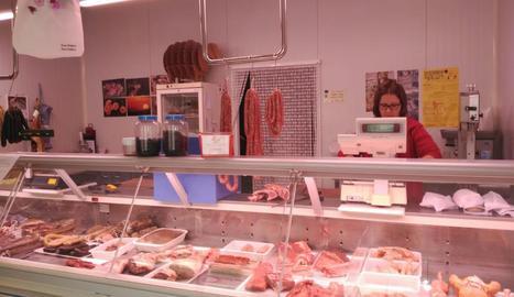 Imatge de la carnisseria d'Isona i Conca Dellà.
