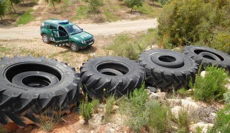 Foto dels pneumàtics.