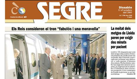 L'AVE, per fi a Lleida