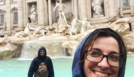 Un dia passat per aigua a Roma, davant de la Fontana di Trevi.