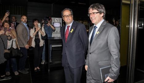Torra i Puigdemont exigeixen diàleg a Madrid i cessar l'aplicació del 155