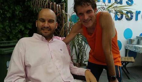 Miquel Solé, amb Jordi Sabaté, pel qual ha fet aquest repte.