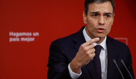 El líder socialista Pedro Sánchez.