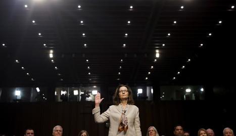 Gina Haspel declara davant del comitè en una imatge d'arxiu.