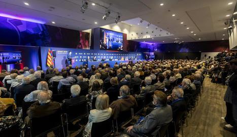 Una vista general de la reunió d'ahir del senat del club davant del qual va comparèixer la junta.