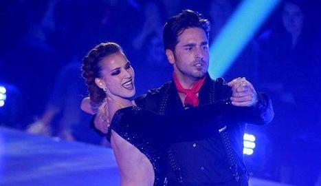 Bustamente ballant amb Yana Olina.
