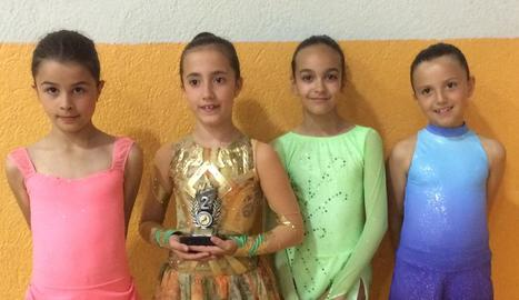 Tres podis del Lleida Patinatge a la Seu