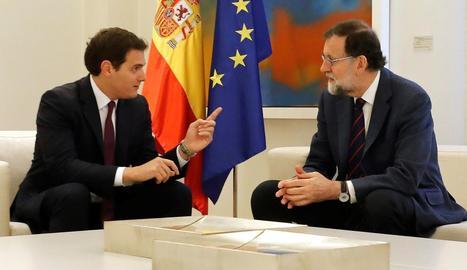 Albert Rivera es va reunir ahir amb Mariano Rajoy a la Moncloa.
