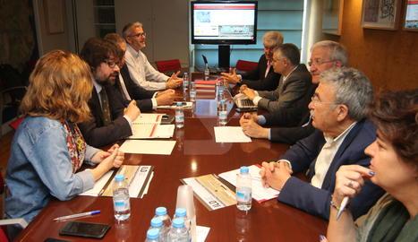La reunió de la taula estratègica de l'aeroport.
