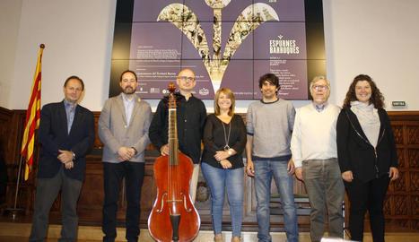 L'Institut d'Estudis Ilerdencs va acollir ahir la presentació del primer festival Espurnes Barroques.