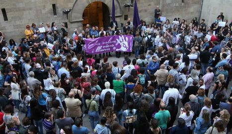 Lleida ha acollit diverses concentracions en contra la polèmica sentència de La Manada.