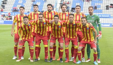 Onze inicial amb què el Lleida va jugar a Sabadell.