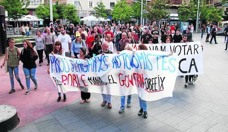 La manifestació va sortir de la plaça Ricard Viñes.