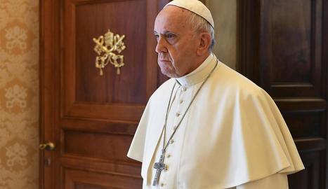 El papa Francesc, ahir en una audiència al Vaticà.