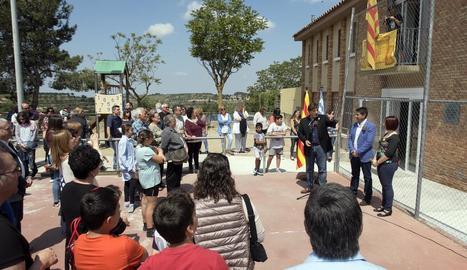 L'acte celebrat ahir per a la inauguració de les millores de l'escola de Ciutadilla.