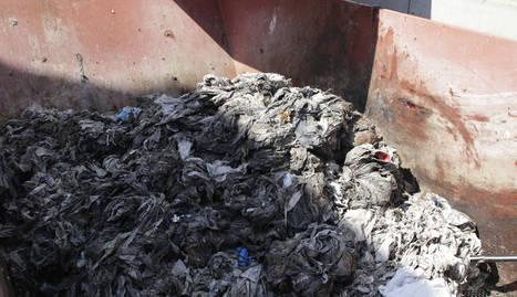 Imatge d'escombraries separades a la depuradora aquesta setmana.