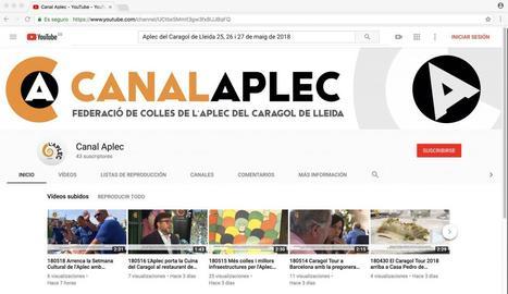 L'Aplec del Caragol obre una televisió 'online' amb la col·laboración de Lleida TV