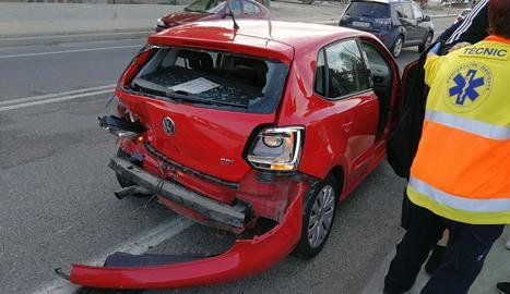 Un dels vehicles accidentats.