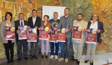 La Diputació va acollir ahir la presentació de la final de la Supercopa de Catalunya d'handbol.